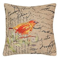 Spencer Home Decor Hopeful Bird Stamp Throw Pillow