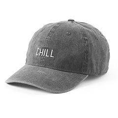 Women's SO® Embroidered 'Chill' Washed Denim Baseball Cap