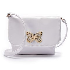 Girls 4-16 Elli by Capelli Butterfly Clasp Crossbody Purse
