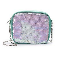 Girls 4-16 Elli by Capelli Flip Sequin Crossbody Purse
