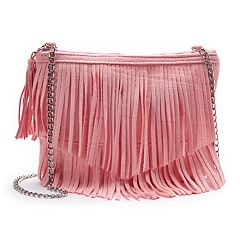 Girls 4-16 Elli by Capelli Faux-Suede Fringe Crossbody Purse