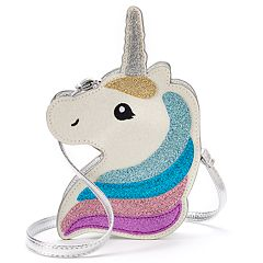 Girls 4-16 Elli by Capelli Glitter Unicorn Crossbody Purse