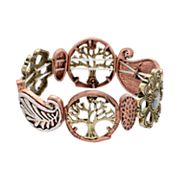 Believe In Flower, Leaf & Tree of Life Stretch Bracelet