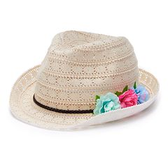 Girls 4-16 Elli by Capelli Crochet Fedora Hat