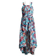 Girls 7-16 Emily West Chiffon Floral Romper with Necklace