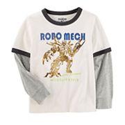 Boys 4-12 OshKosh B'gosh® 'Robo Mech' Ringer Tee