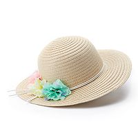 Girls 4-16 Elli by Capelli Flower Accent Sun Hat