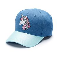 Girls 4-16 Elli by Capelli Embroidered Unicorn Baseball Cap