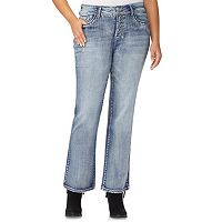 Juniors' Plus Size Wallflower Luscious Embellished Curvy Bootcut Jeans