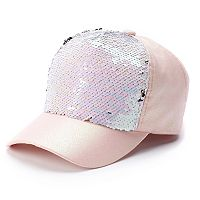 Girls 4-16 Elli by Capelli Flip Sequin Baseball Cap