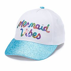 Girls 4-16 Elli by Capelli 'Mermaid Vibes' Sequin Baseball Cap
