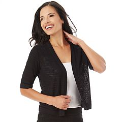 Women's Apt. 9® Open-Work Shrug Cardigan