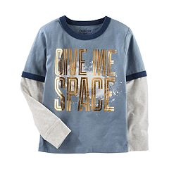 Boys 4-12 OshKosh B'gosh® Glow in the Dark 'Give Me Space' Metallic Ringer Tee
