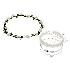 Girls 4-16 Elli by Capelli Flower Crown & Choker Necklace Set