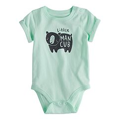 Baby Boy Jumping Beans® 'Little Man Cub' Bear Bodysuit