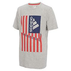 Boys 8-20 adidas American Flag Logo Graphic Tee
