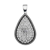 wearable ART Pave Rope Teardrop Pendant