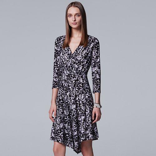 Women's Simply Vera Vera Wang Faux-Wrap Drape Dress
