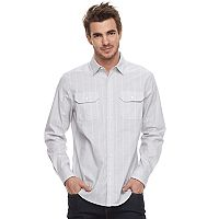 Men's Apt. 9® Premier Flex Stripe Woven Button-Down Shirt