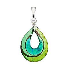 wearable ART Glass Teardrop Pendant