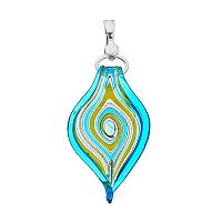 wearable ART Spiraling Glass Pendant