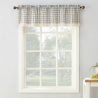 No918 Maisie Plaid Straight Kitchen Window Valance