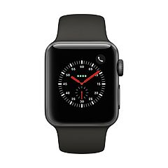 Apple Watch Series 3 (GPS + Cellular) 38mm Space Gray Aluminum Case with Black Sport Band