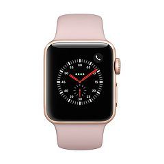 Apple Watch Series 3 (GPS + Cellular) 38mm Gold Aluminum Case with Pink Sand Sport Band
