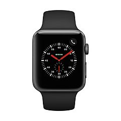 Apple Watch Series 3 (GPS + Cellular) 42mm Space Gray Aluminum Case with Black Sport Band