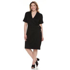 Plus Size Apt. 9® Grommet Faux-Wrap Dress