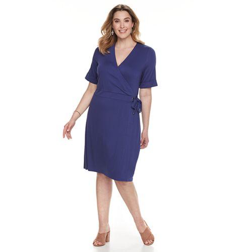 Plus Size Apt 9 Grommet Faux Wrap Dress