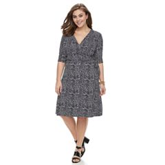 Plus Size Apt. 9® Grommet Faux-Wrap Dress