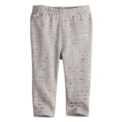 Baby Girl Jumping Beans® Floral Ruffled-Back Leggings