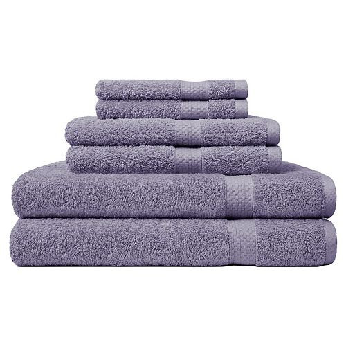 Carefree Comforts Ringspun 6-piece Bath Towel Set