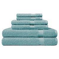 Carefree Comforts Ringspun 6 pc Bath Towel Set