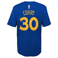 Boys 4-7 Golden State Warriors Stephen Curry Name and Number Tee