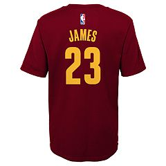 Boys 4-7 Cleveland Cavaliers LeBron James Name and Number Tee