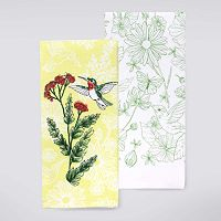 Celebrate Spring Together Hummingbird Kitchen Towel 2 pk