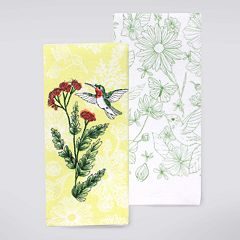 Celebrate Spring Together Hummingbird Kitchen Towel 2 pk