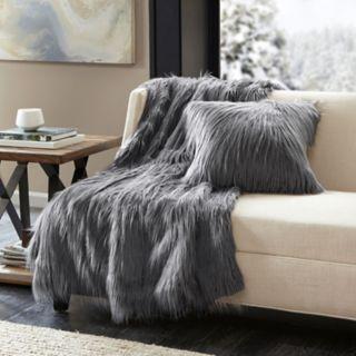 Madison Park Edina Faux Fur Throw