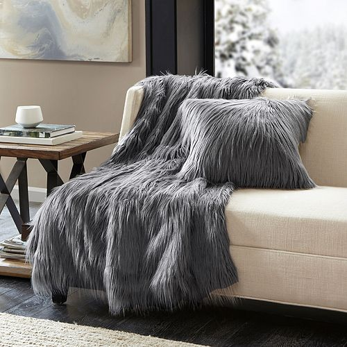 Madison Park Edina Faux Fur Throw
