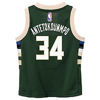 Boys 4-7 Milwaukee Bucks Road Giannis Antetokounmpo Replica Jersey