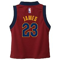Boys 4-7 Cleveland Cavaliers Road LeBron James Replica Jersey