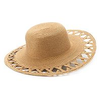 Women's SONOMA Goods for Life™ Woven Open-Work Brim Floppy Hat