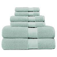 Crowning Touch Luxury Turkish Cotton 6-piece Bath Towel Set