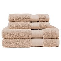 Crowning Touch Luxury Turkish Cotton 4-piece Bath Towel Set