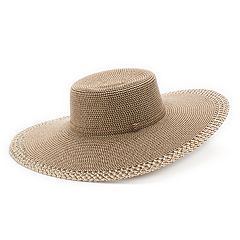 Women's SONOMA Goods for Life™ Woven Eyelet Edge Floppy Hat