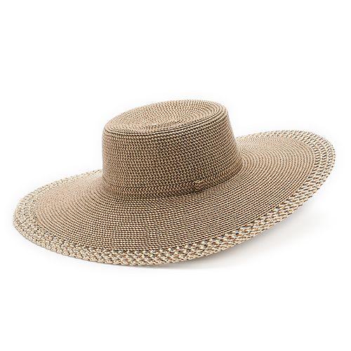 Women's SONOMA Goods for Life™ Woven Eyelet Edge Floppy Hat