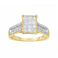 14k Gold 1 Carat T.W. Diamond Ring