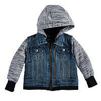 Baby Boy Urban Republic Denim Vest Fleece Lightweight Jacket